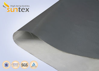 Plain / Twill PU Coated Fiberglass Fabric For Curtain Fabric Fire Protection 0.21mm Thickness Compensator Cloth