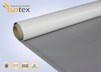 Air Distribution 13.5OZ PU Coated Fiberglass Fabric For Smoke And Fire Curtains