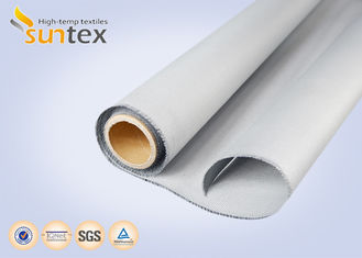Thermal Insulation Fabric Polyurethane Coated Fiberglass Fabric M0 Smoke Barrier Fabric 0.43mm